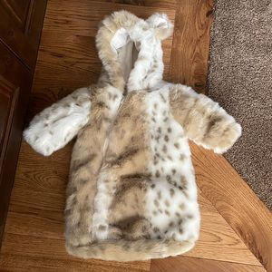 Restoration Hardware Baby&Child Faux Fur bunting